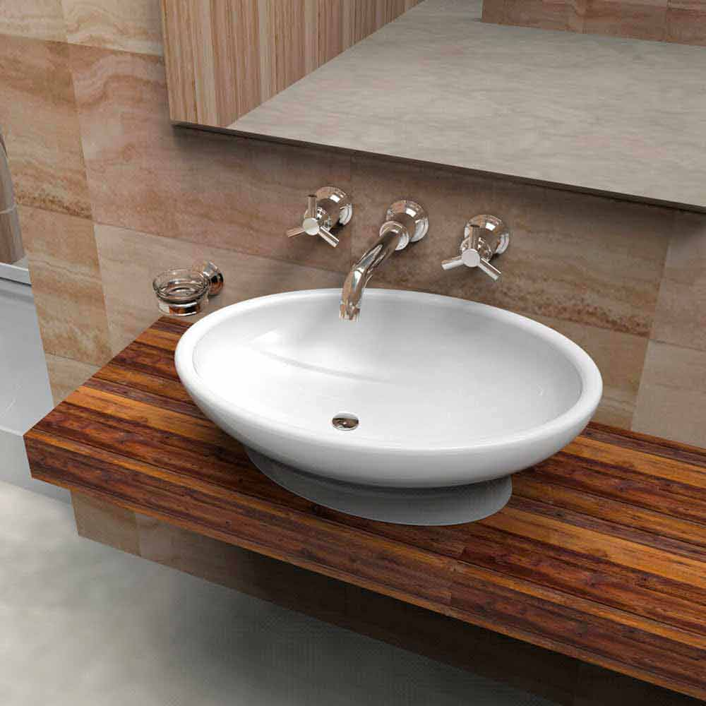 Modern Countertop Washbasin Egg Italian Design Handmade In Italy