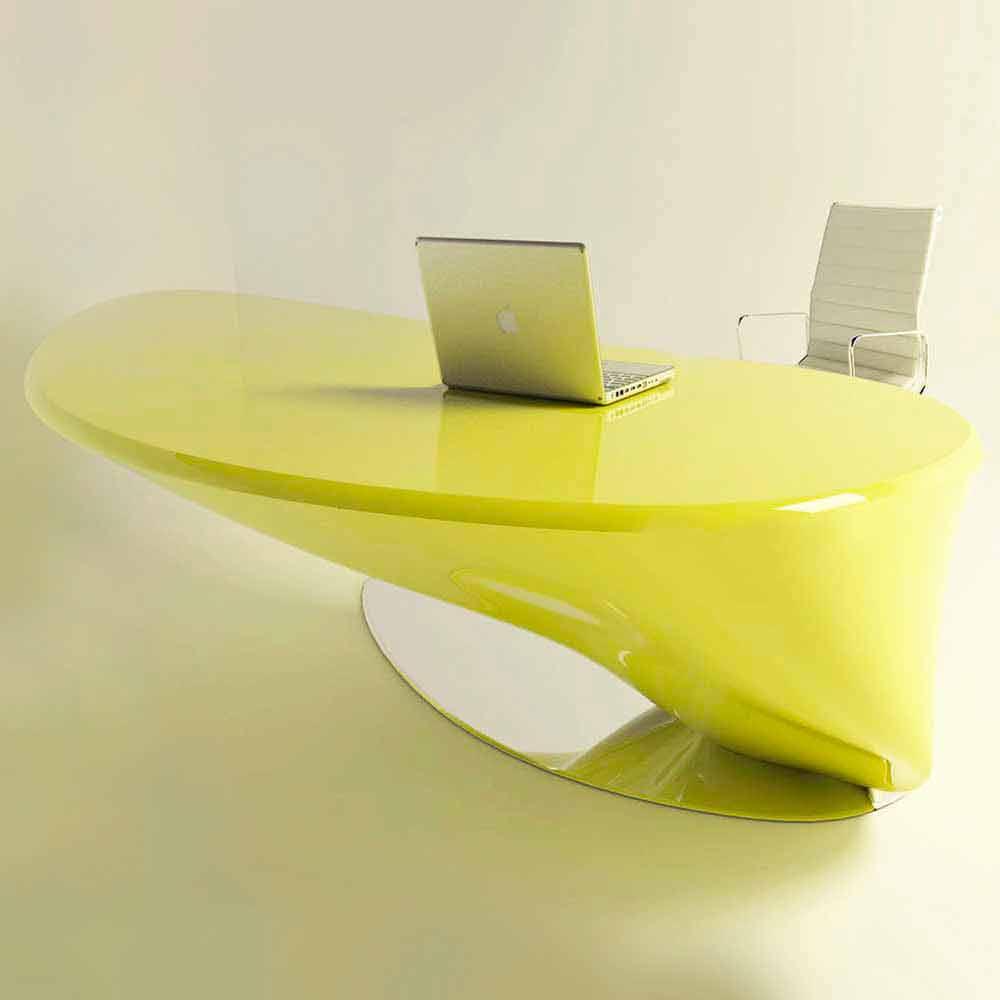 Modern Design Office Desk Atkinson Made Of Solid Surface Italian Design