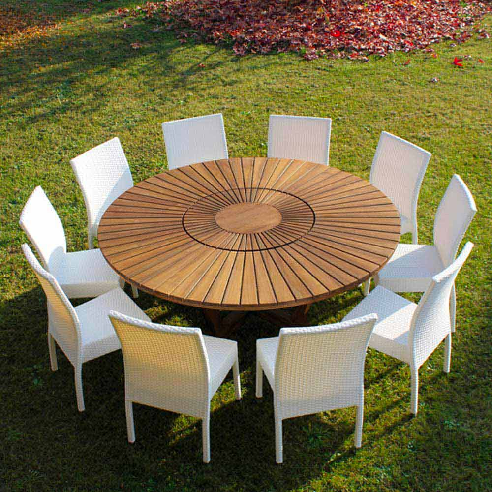 Teak round dining table Real Table