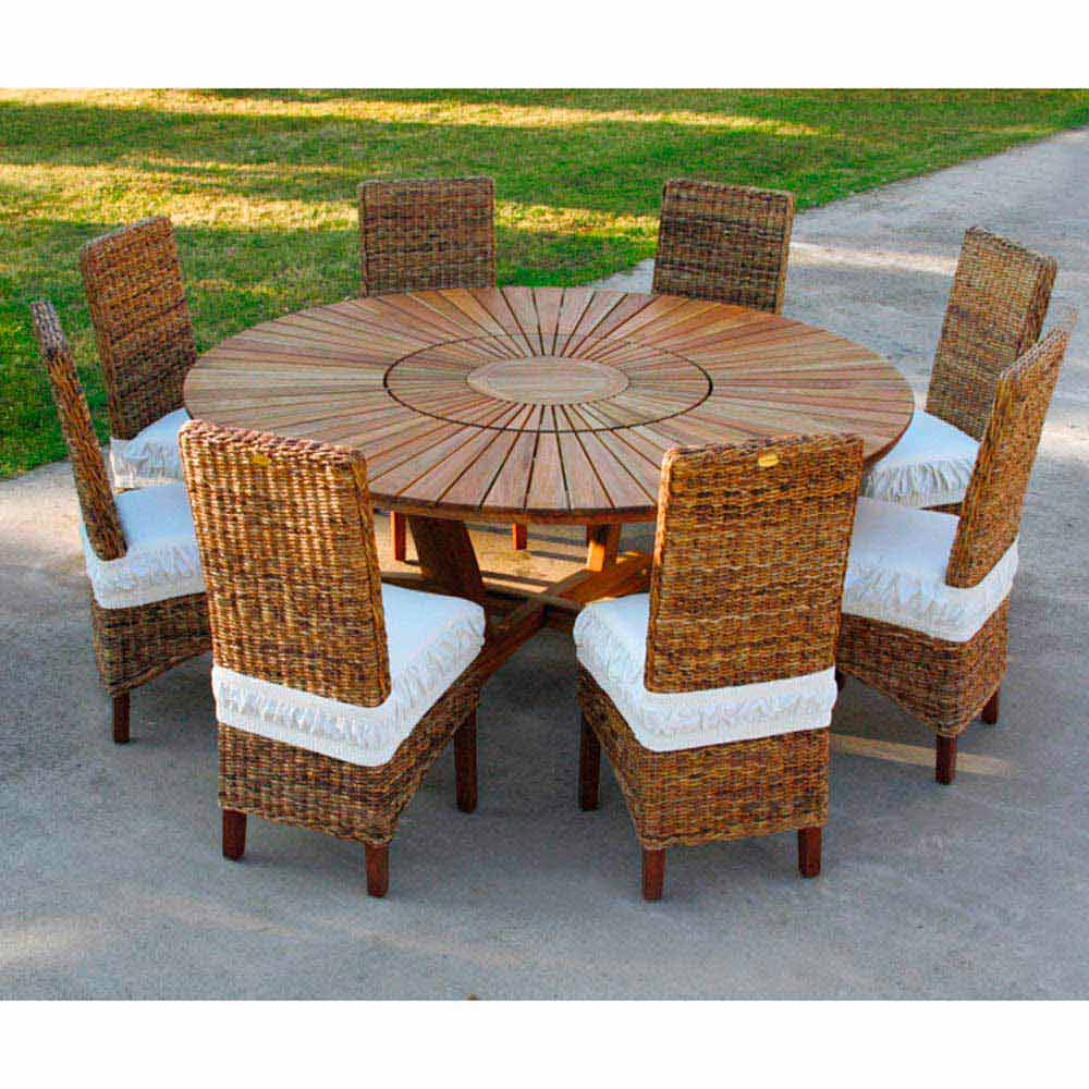 teak round dining table real table. Black Bedroom Furniture Sets. Home Design Ideas