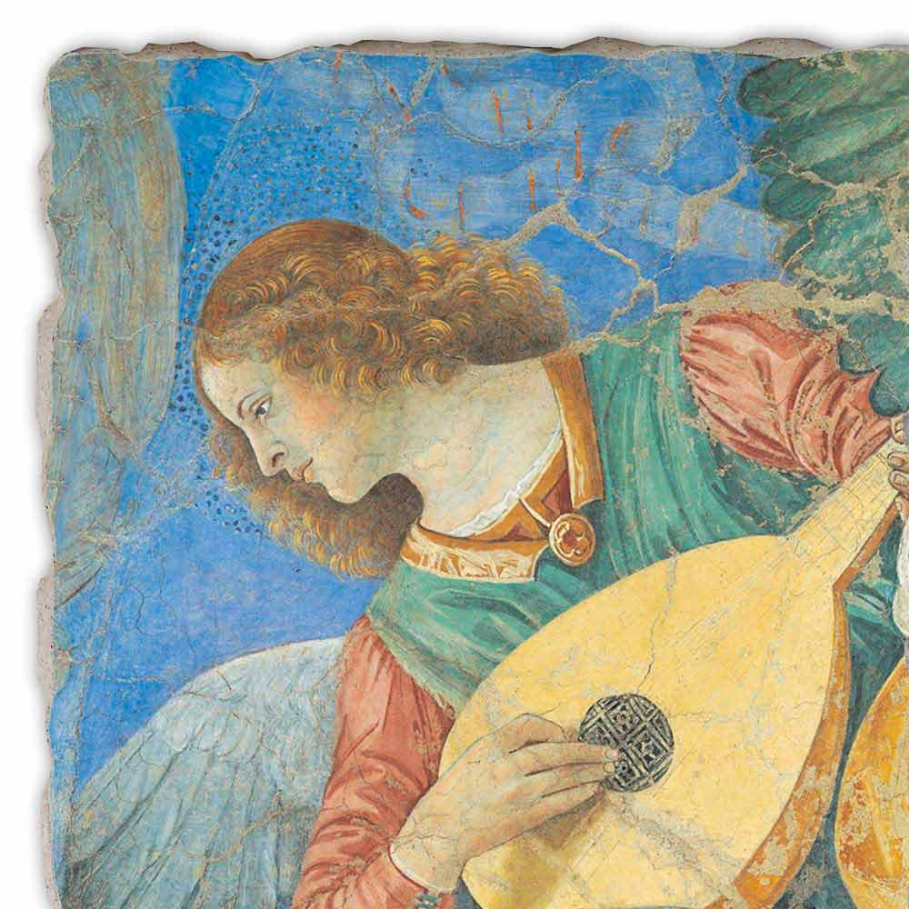 Musician Angels By Melozzo Da Forl 236 Hand Painted Fresco