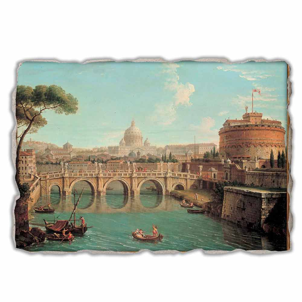 Rome A View By Antonio Joli Hand Painted Fresco