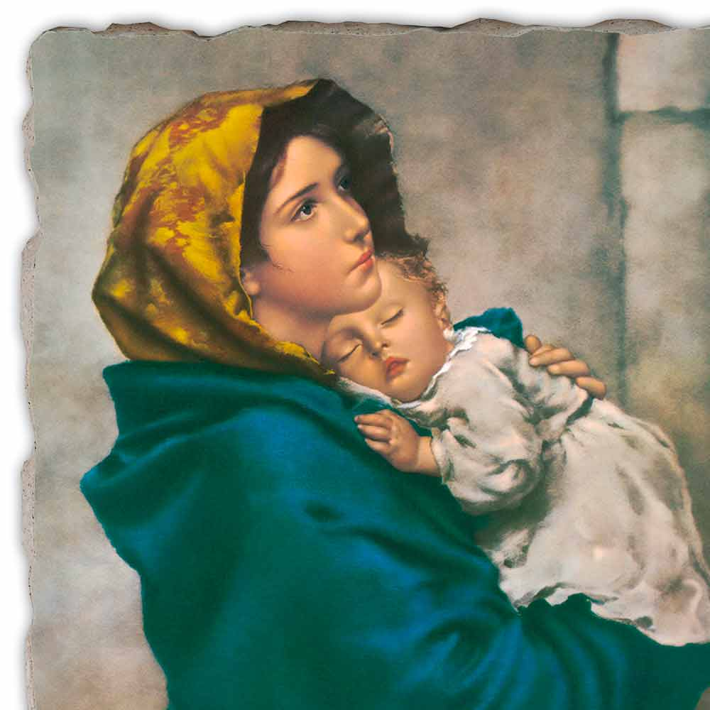 Madonna Of The Streets By Ferruzzi Hand Painted Fresco