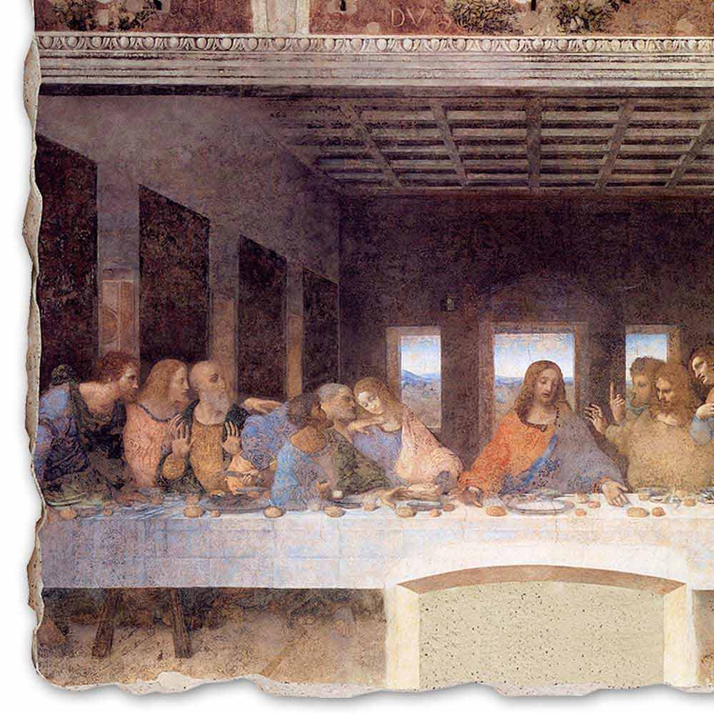 The Last Supper By Leonardo Da Vinci Hand Painted Fresco