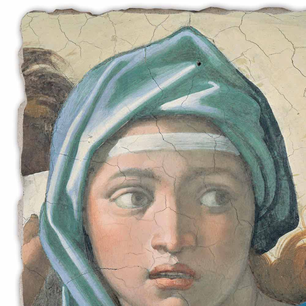 Delphic Sibyl By Michelangelo Hand Painted Fresco Big Size