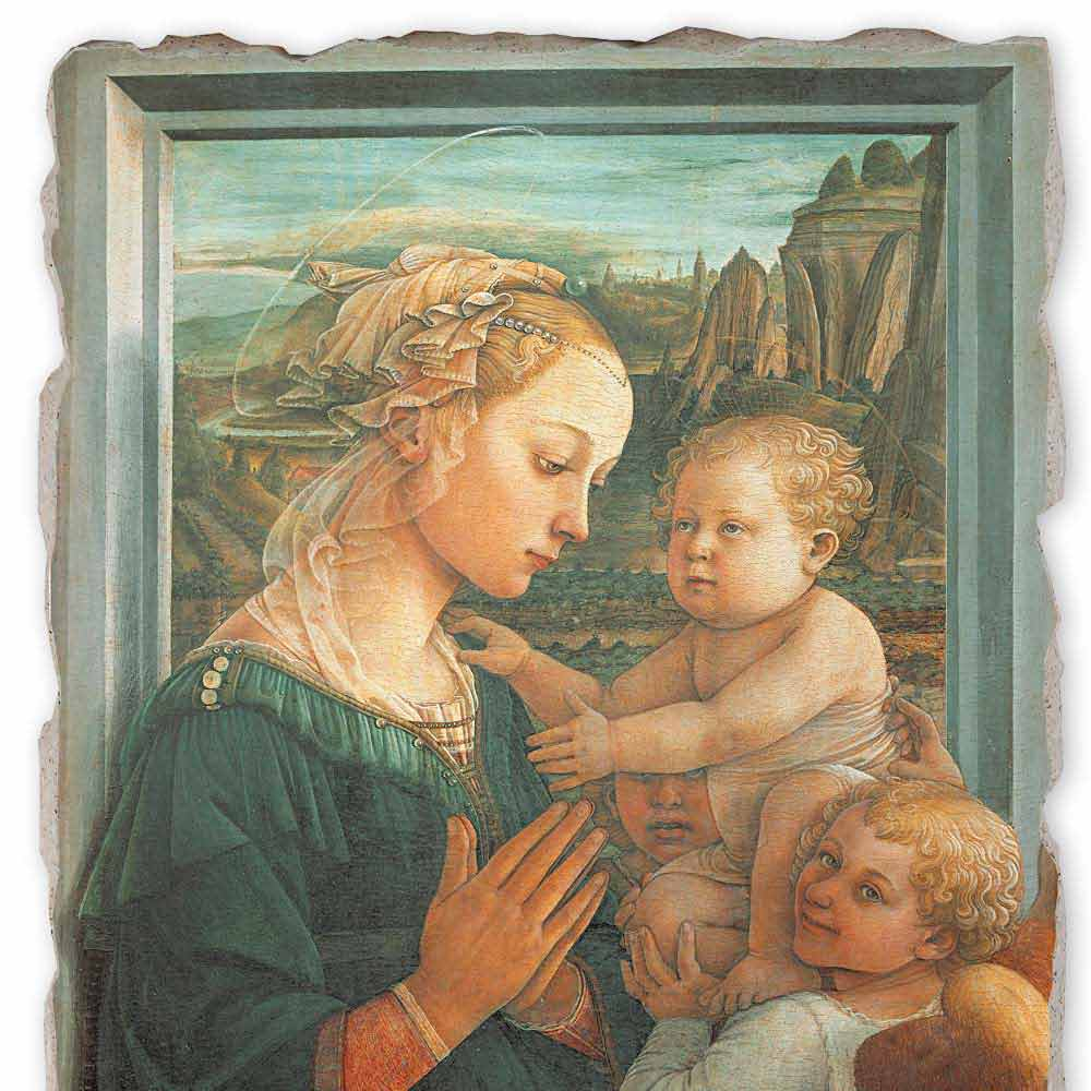 Madonna With Child By Filippo Lippi Hand Painted Fresco