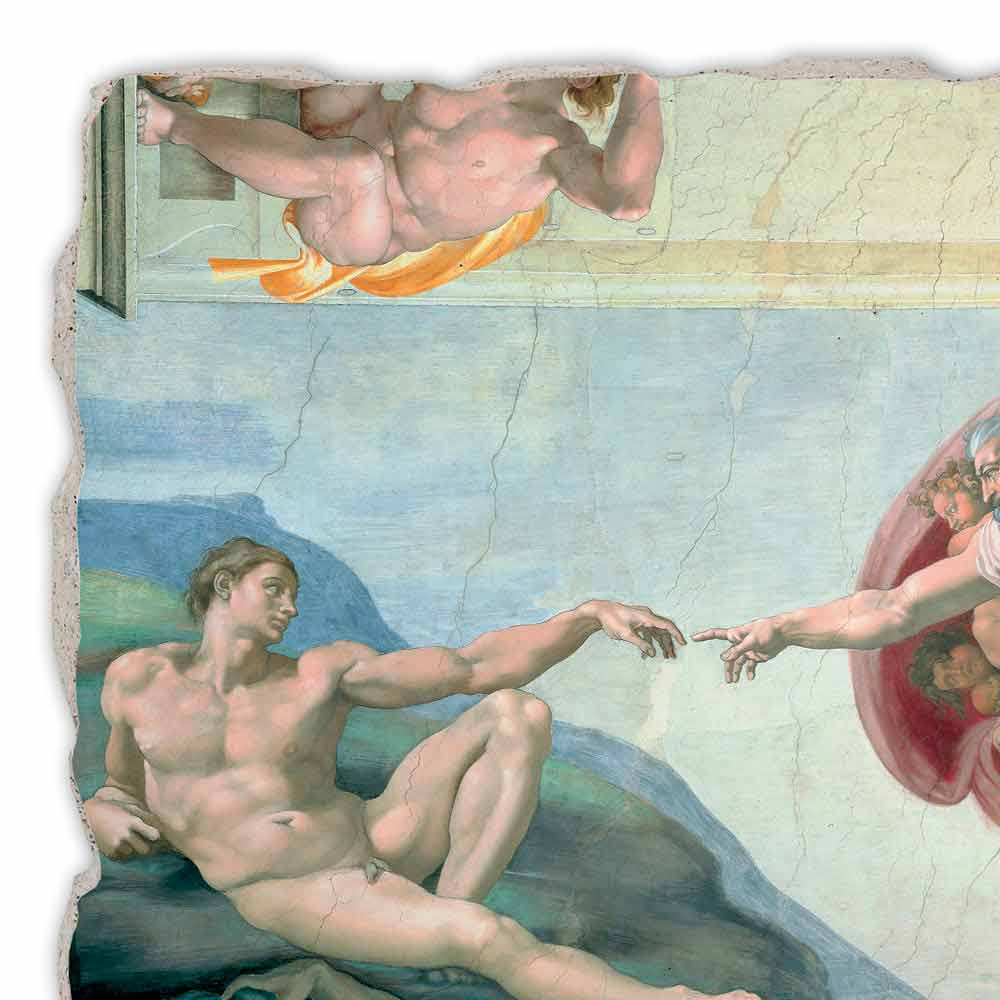 так картина бог и человек тянут руки дизайн интерьера, ухоженная