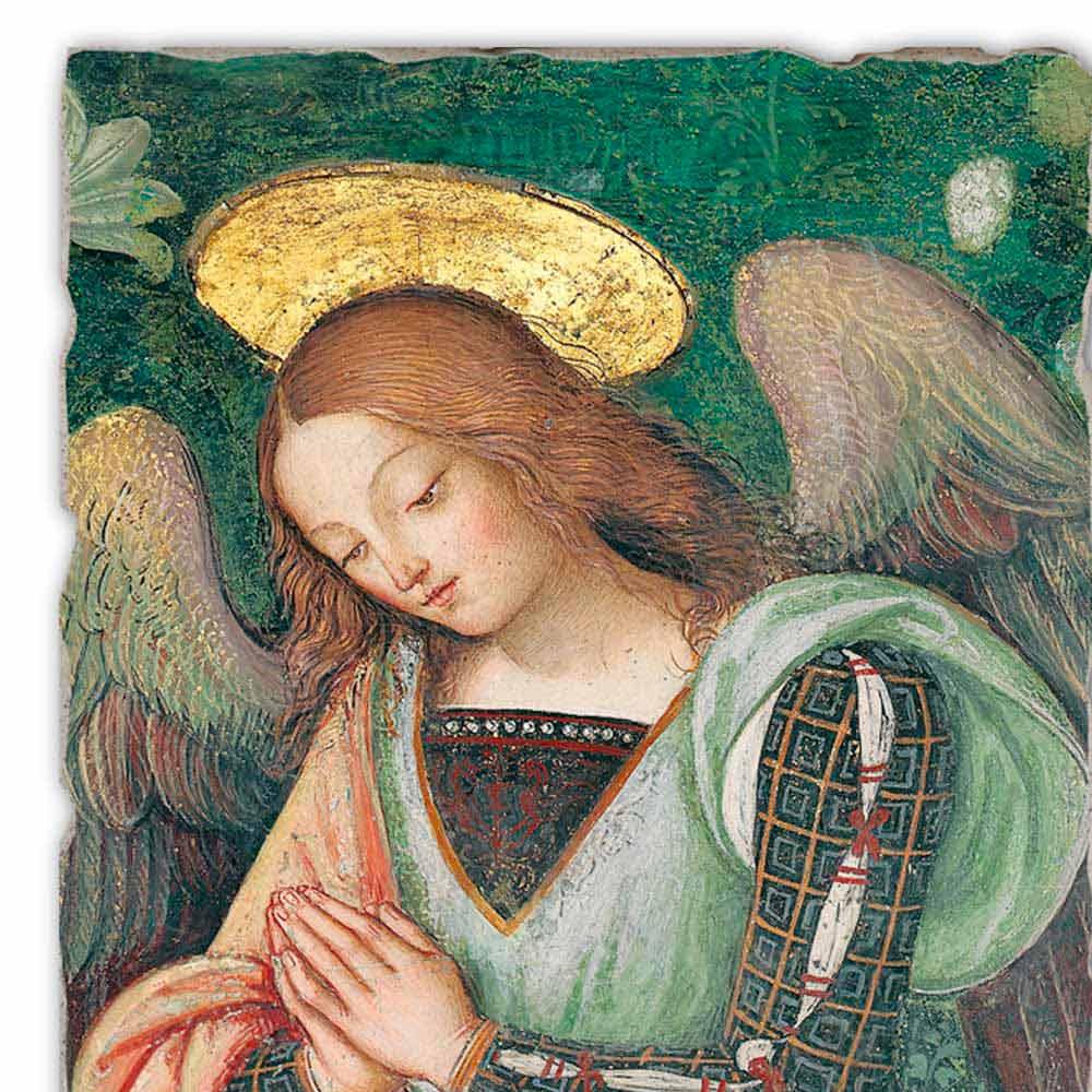 Nativity Detail Of The Angel Fresco By Pinturicchio