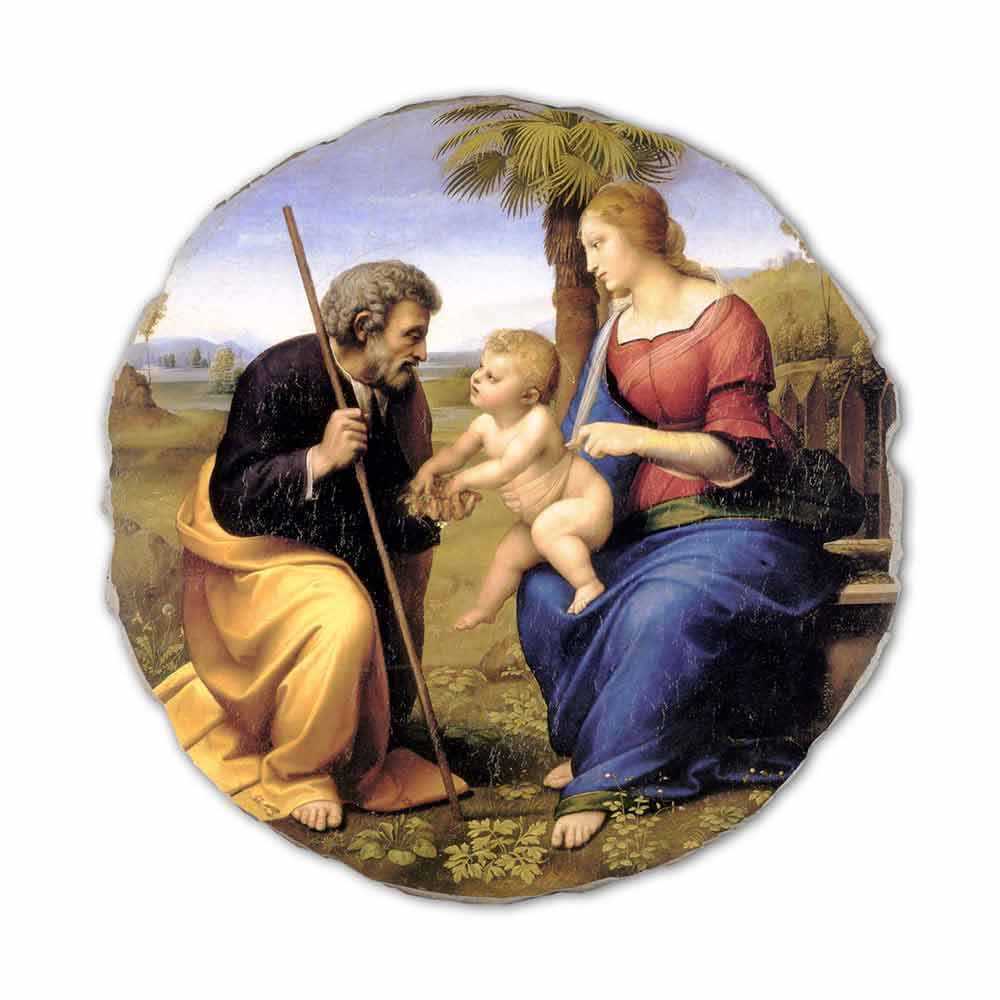 Painting The Holy Family With A Palm Tree By Raphael