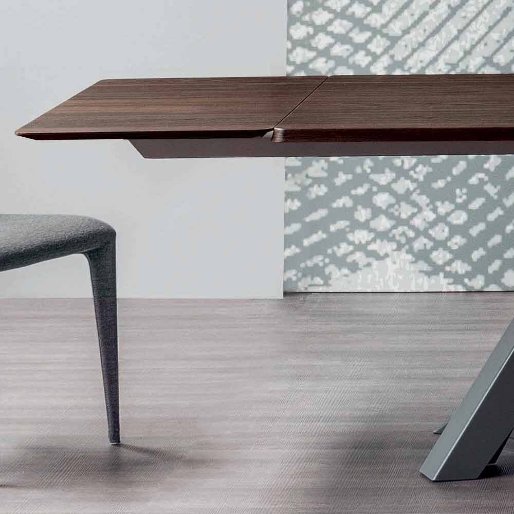Bonaldo Big Table extending table with wooden top, made in Italy