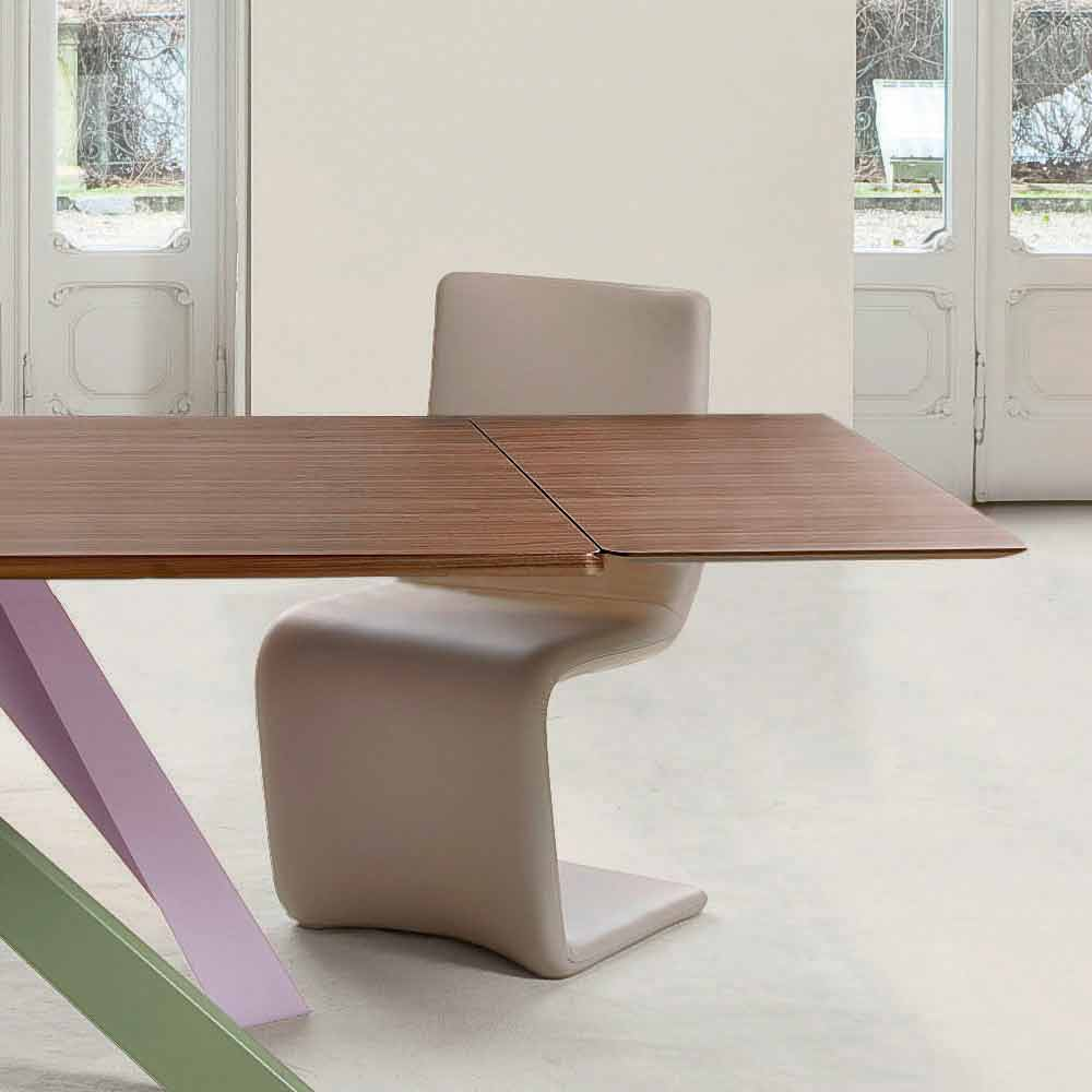 Bonaldo Big Table extending table with wood veneer top, made in Italy