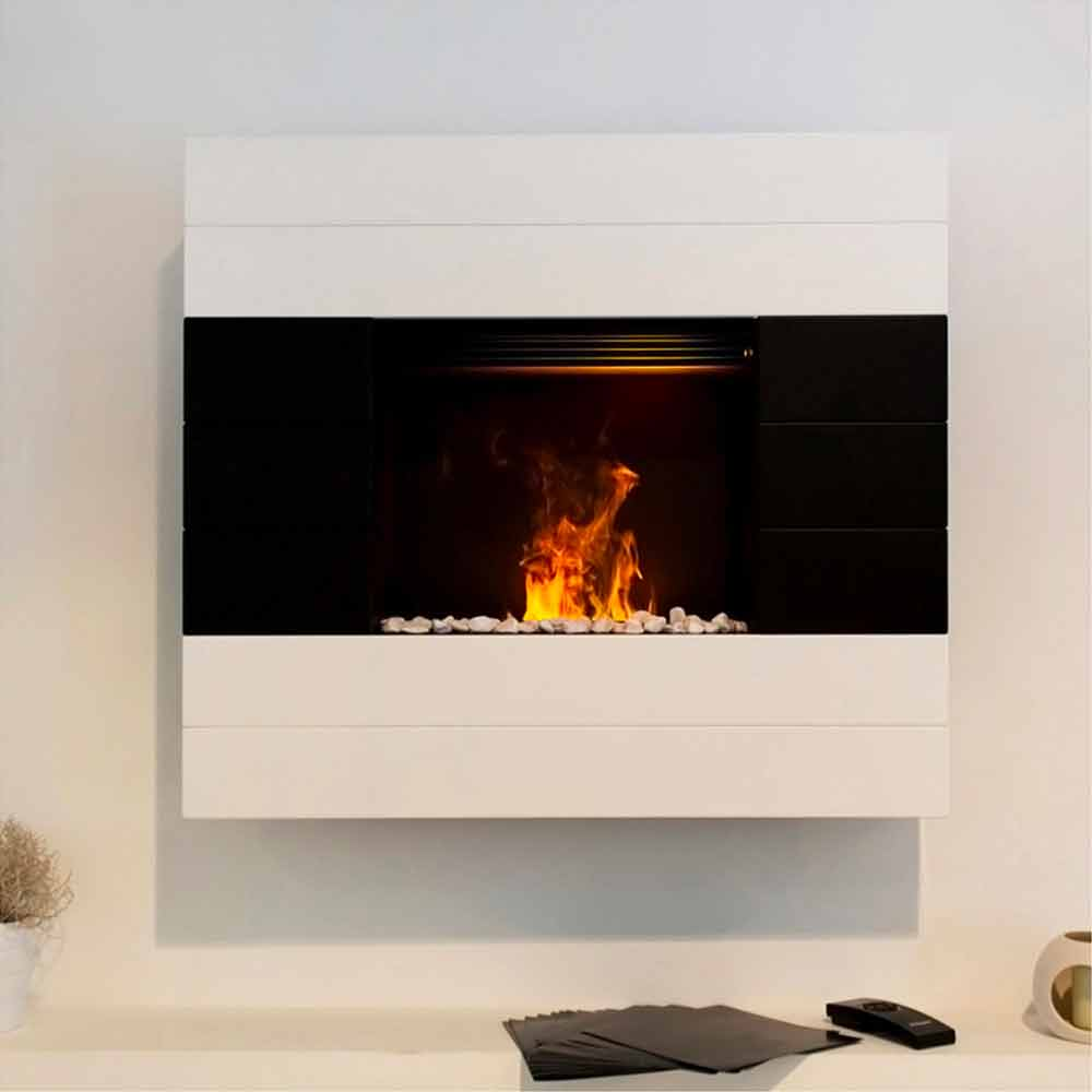 hanging fireplace fireplaces mount classicflame wallmount transcendence electric wall