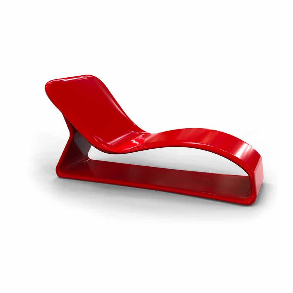 Modern design lounge chair kobra made in italy for Chaise design coloree