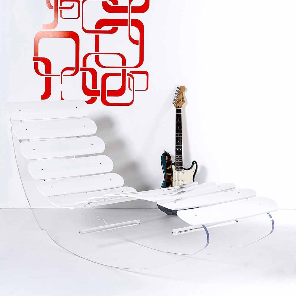 Modern design chaise longue made of transparent plexiglass Josue
