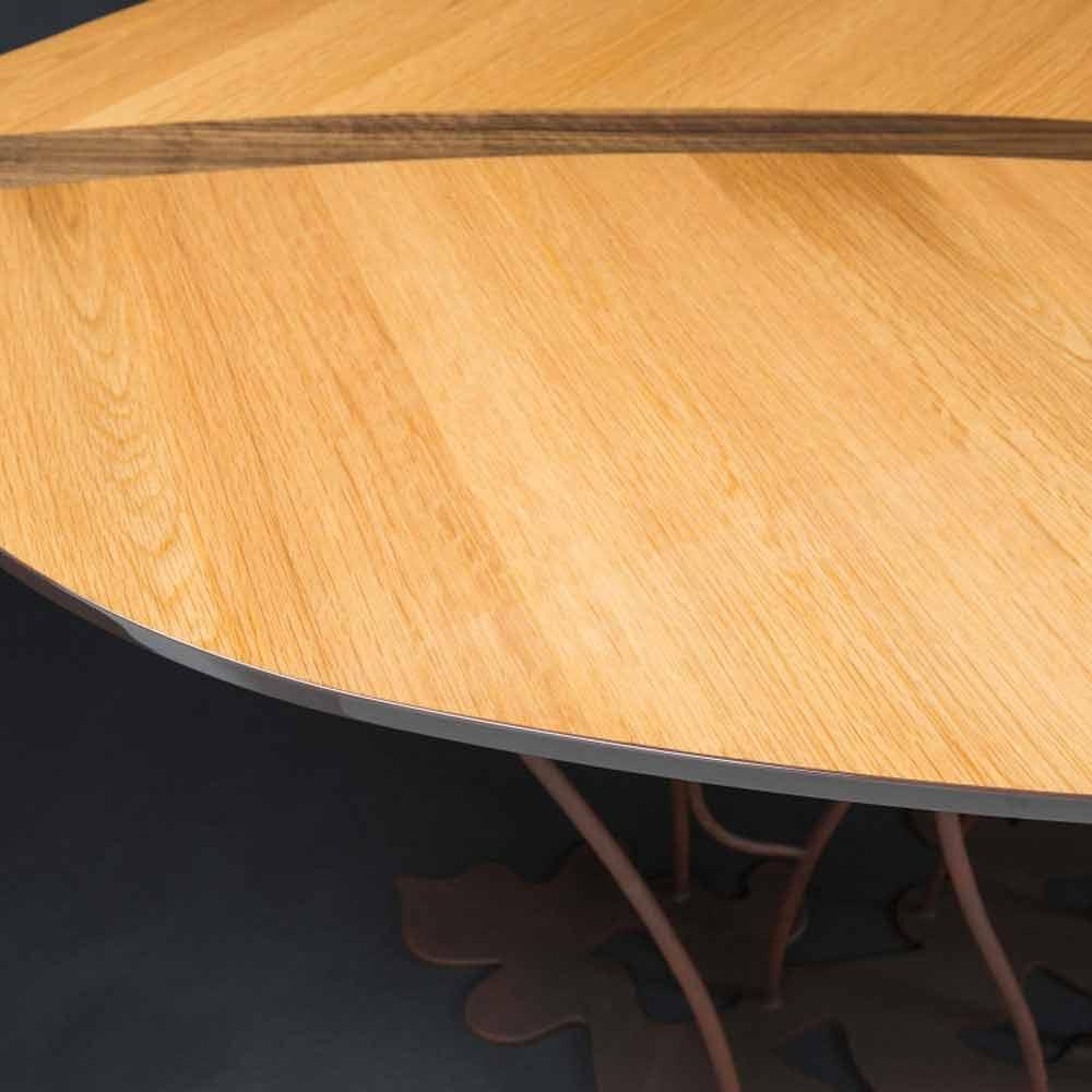 Modern design console table fenice oak veneer and walnut design console with oak veneer and crafts walnut fenice geotapseo Choice Image