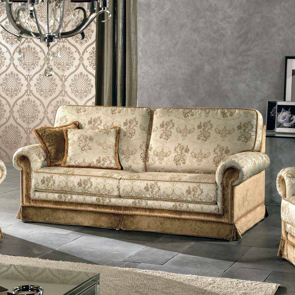 3 Seater Sofa In Fabric Partially Removable Maxim, Made In Italy