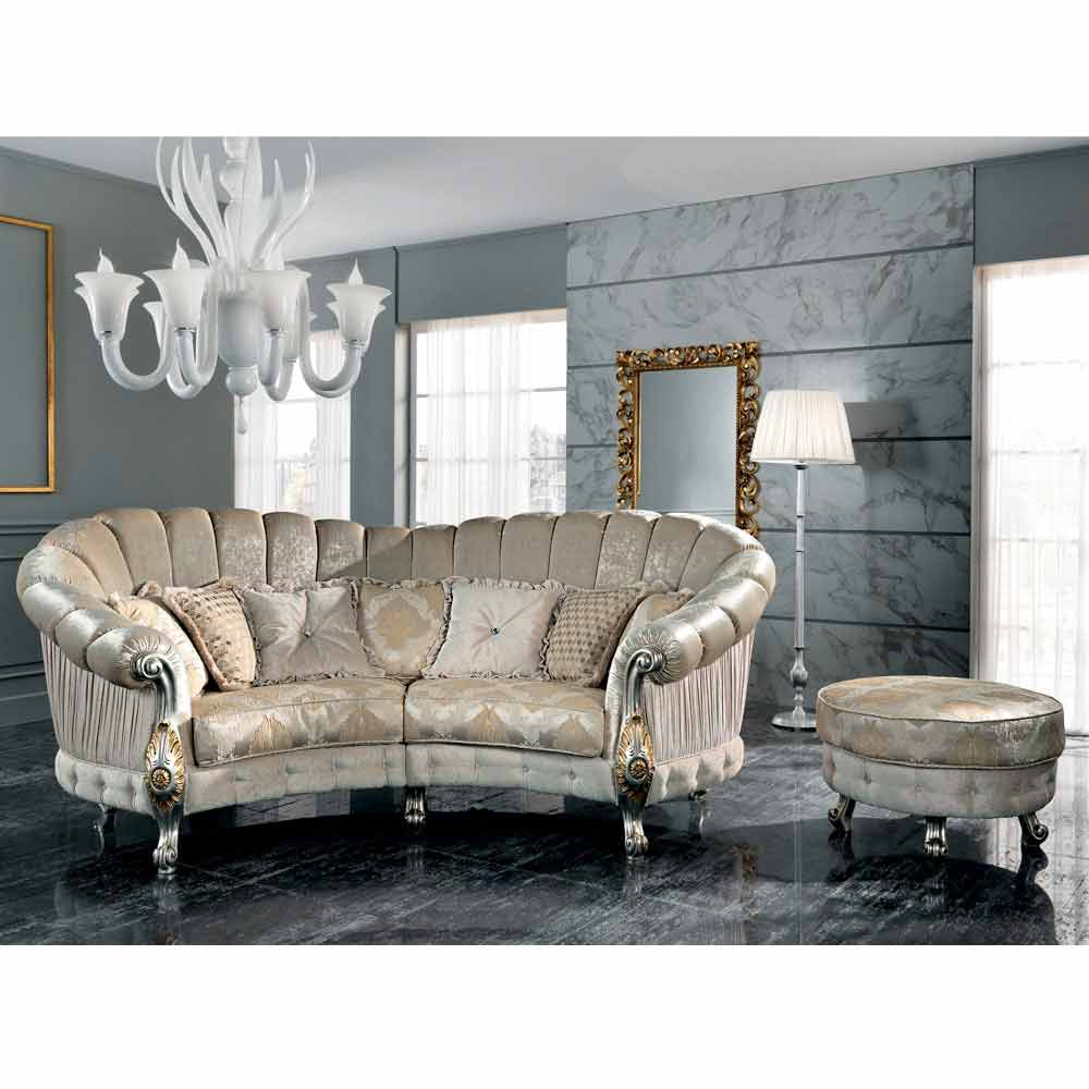 Made In Italy 4 Seater Fabric Sofa