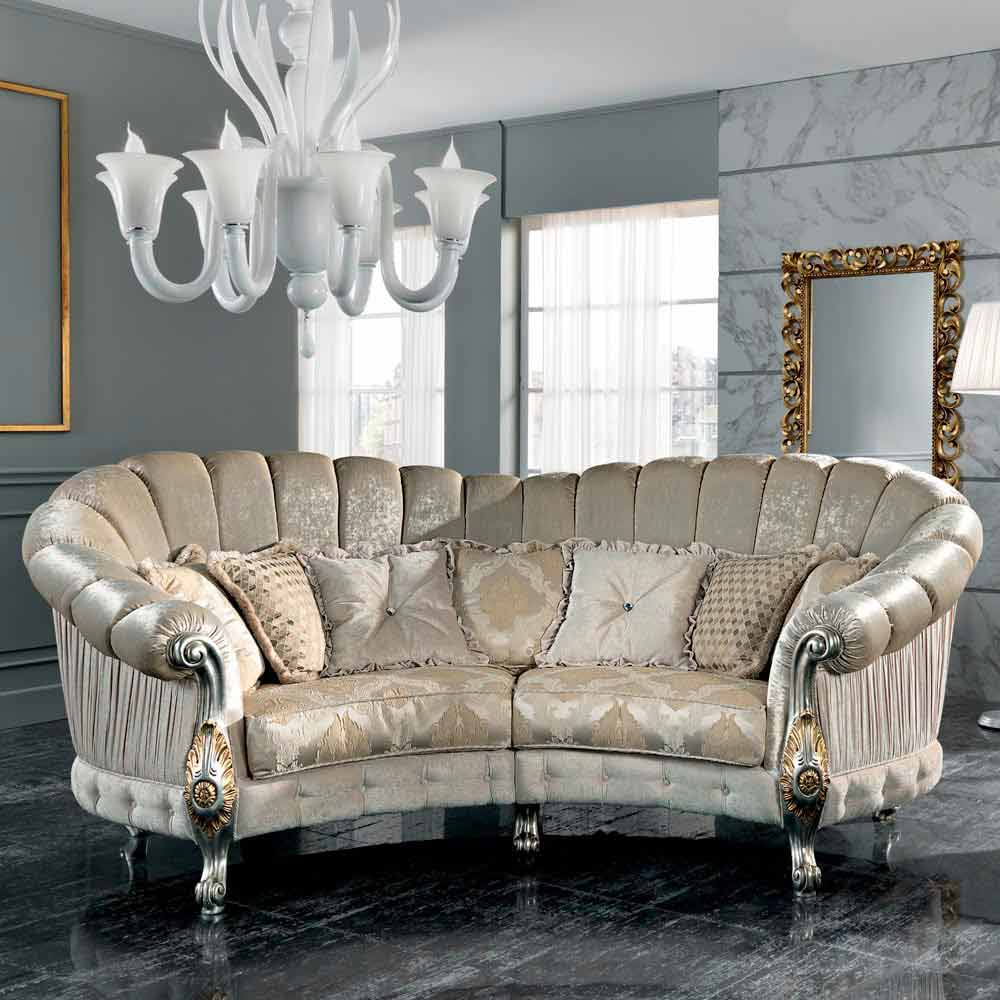 Made In Italy 4 Seater Fabric Sofa Classi Design Alexander