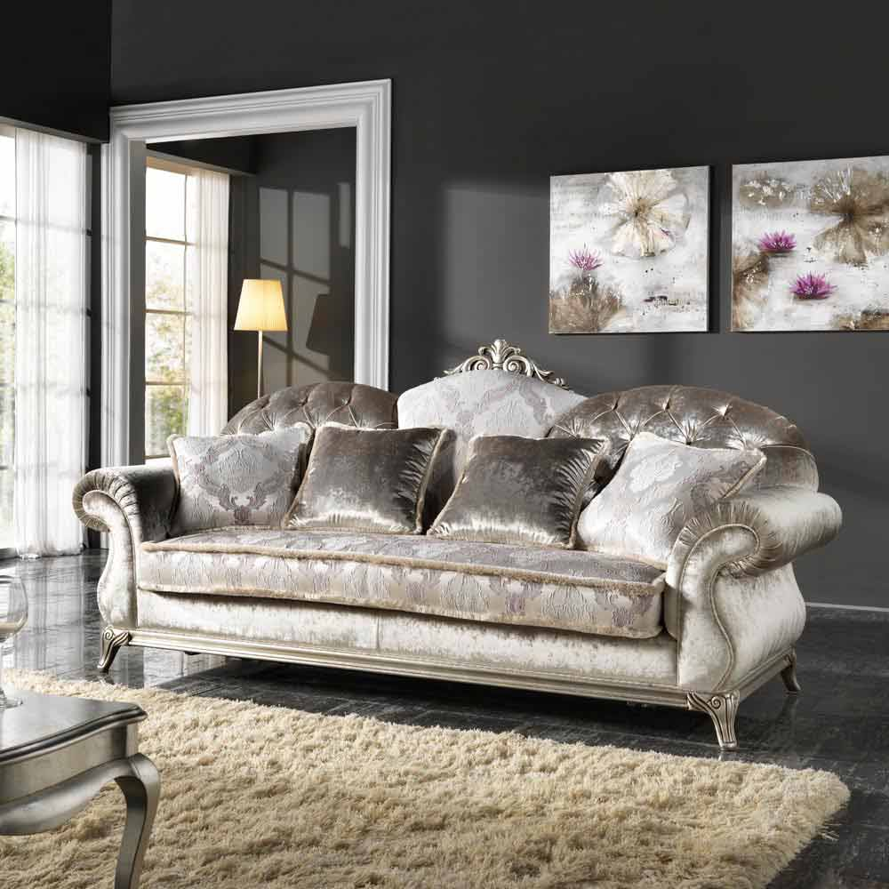 Luxury Classic Sofa 3 Seat, Covered With Fabric, Liberty