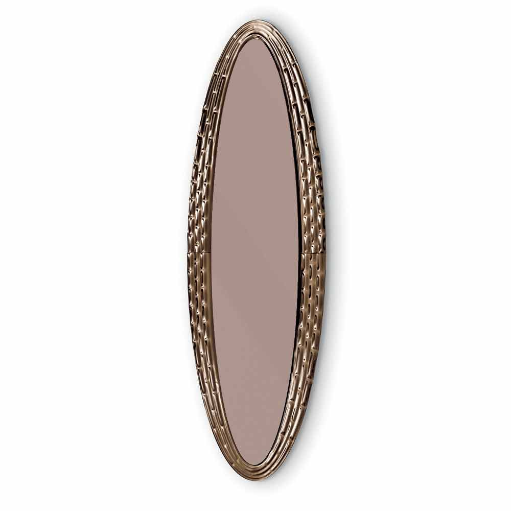 Fiam Vebl 232 N Pasha Modern Elliptical Wall Mirror Made In Italy
