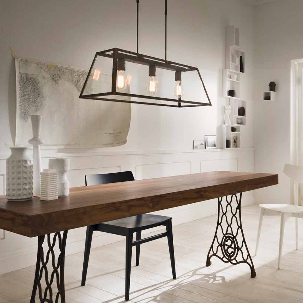 Industrial style 3 lights pendant lamp london il fanale for Lampade design