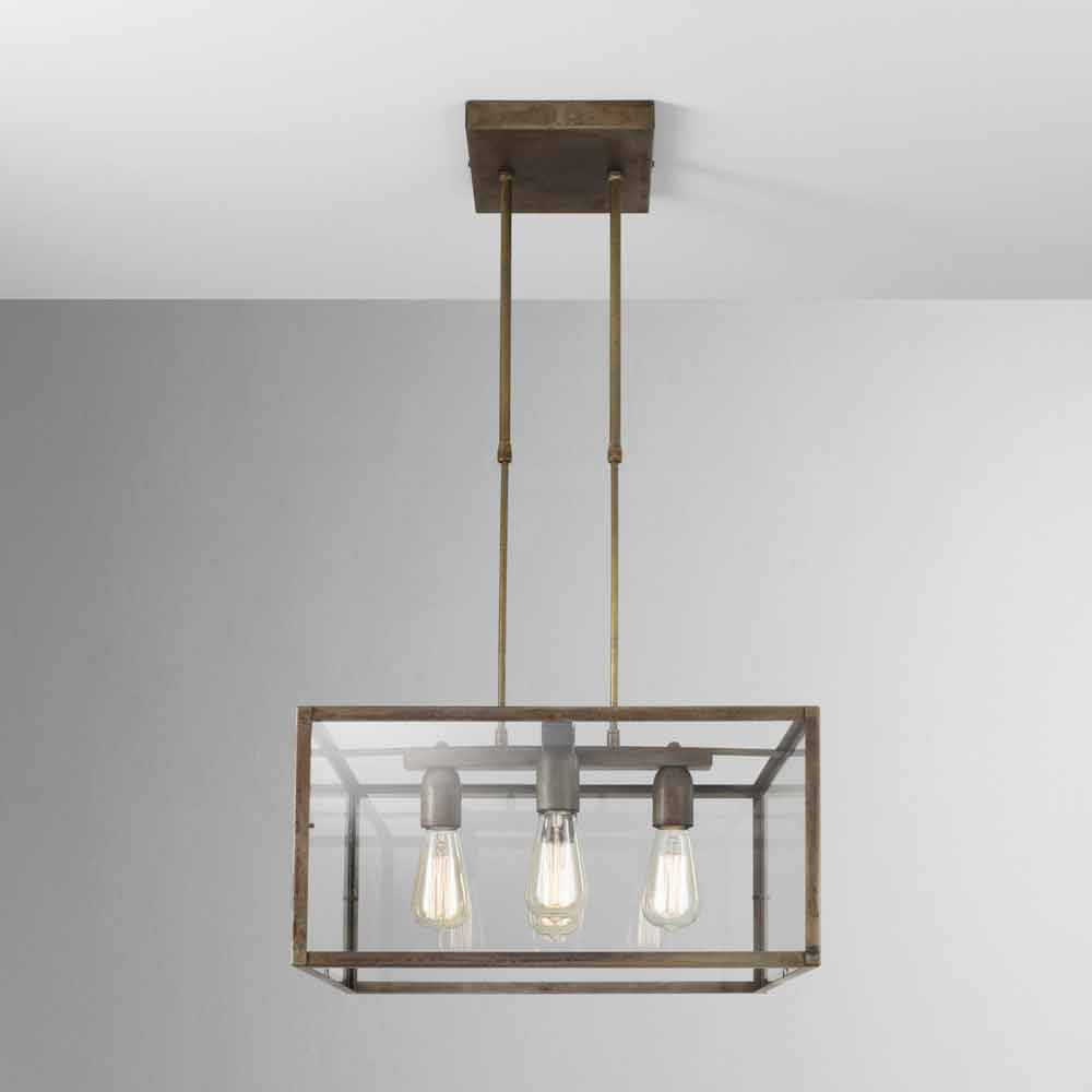 Industrial Style Square Pendant Light London Il Fanale