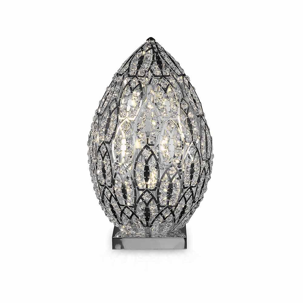 Egg Shaped Crystal Table Lamp Egg