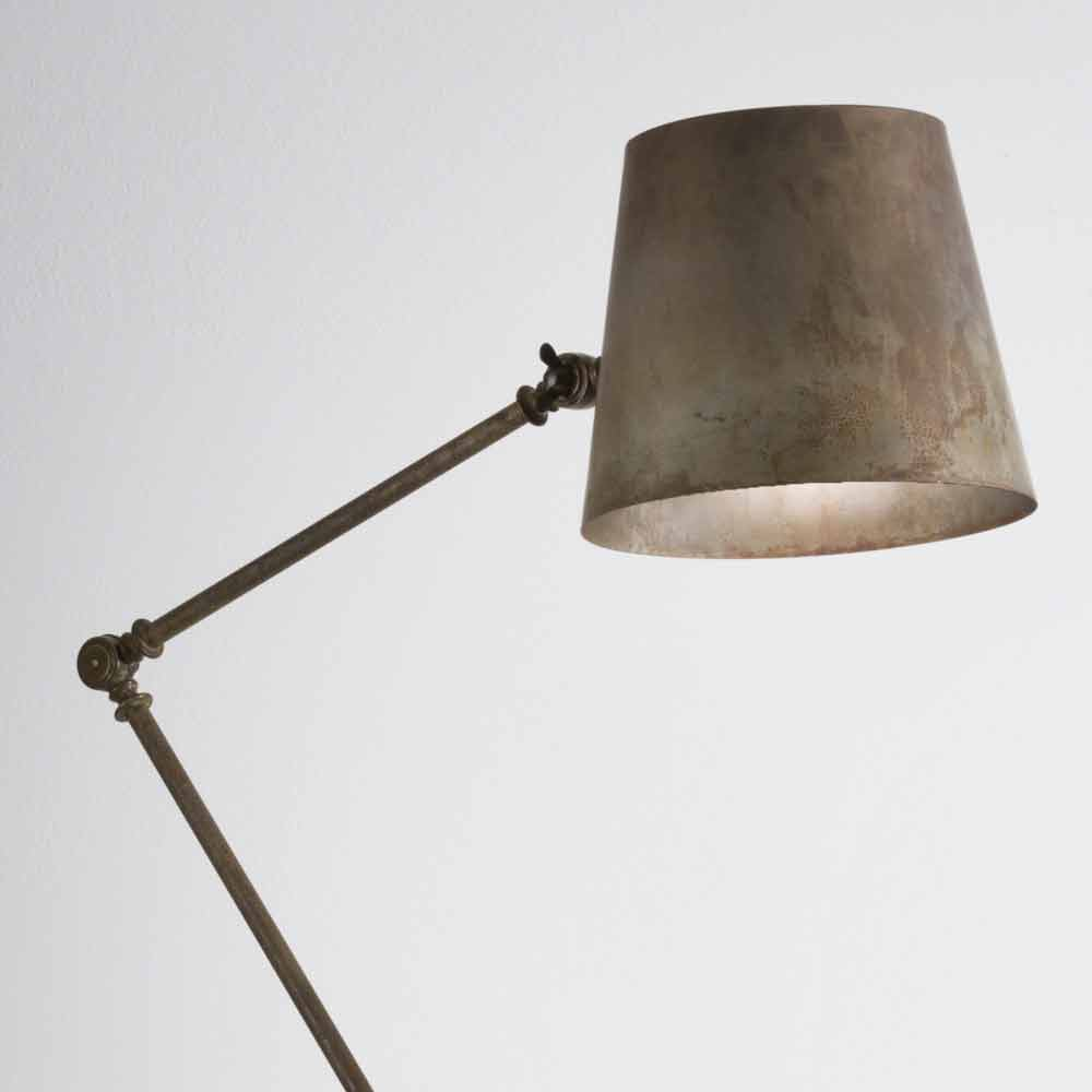 vintage industrial adjustable floor lamp reporter il fanale. Black Bedroom Furniture Sets. Home Design Ideas