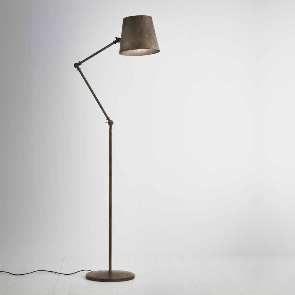 Vintage Industrial Adjustable Floor Lamp Reporter Il Fanale