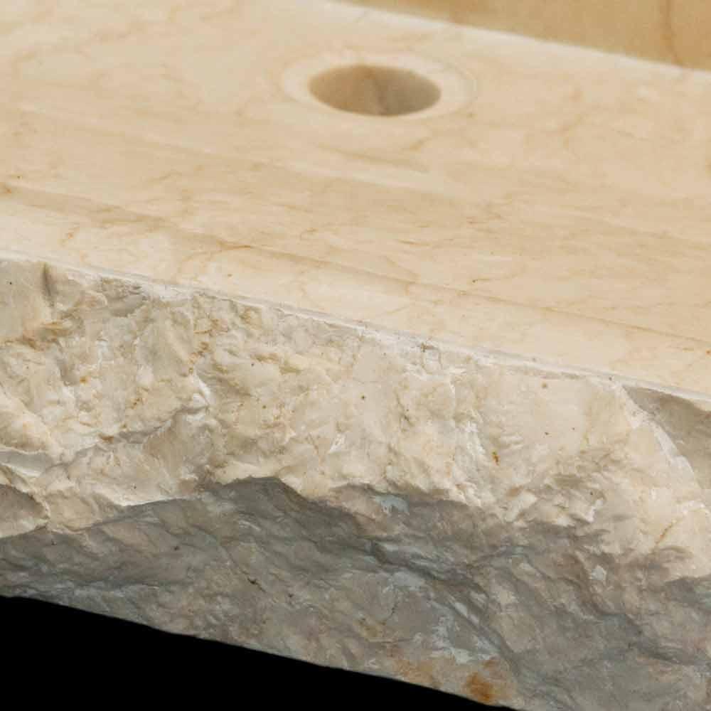 Modern White Natural Stone Washbasin Sam