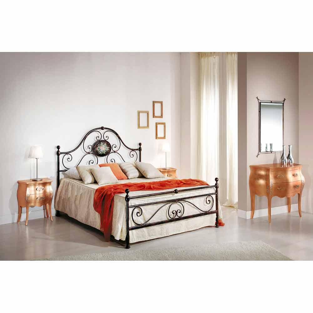 Wrought Iron Double Bed Alexa Classic Design Handmade In