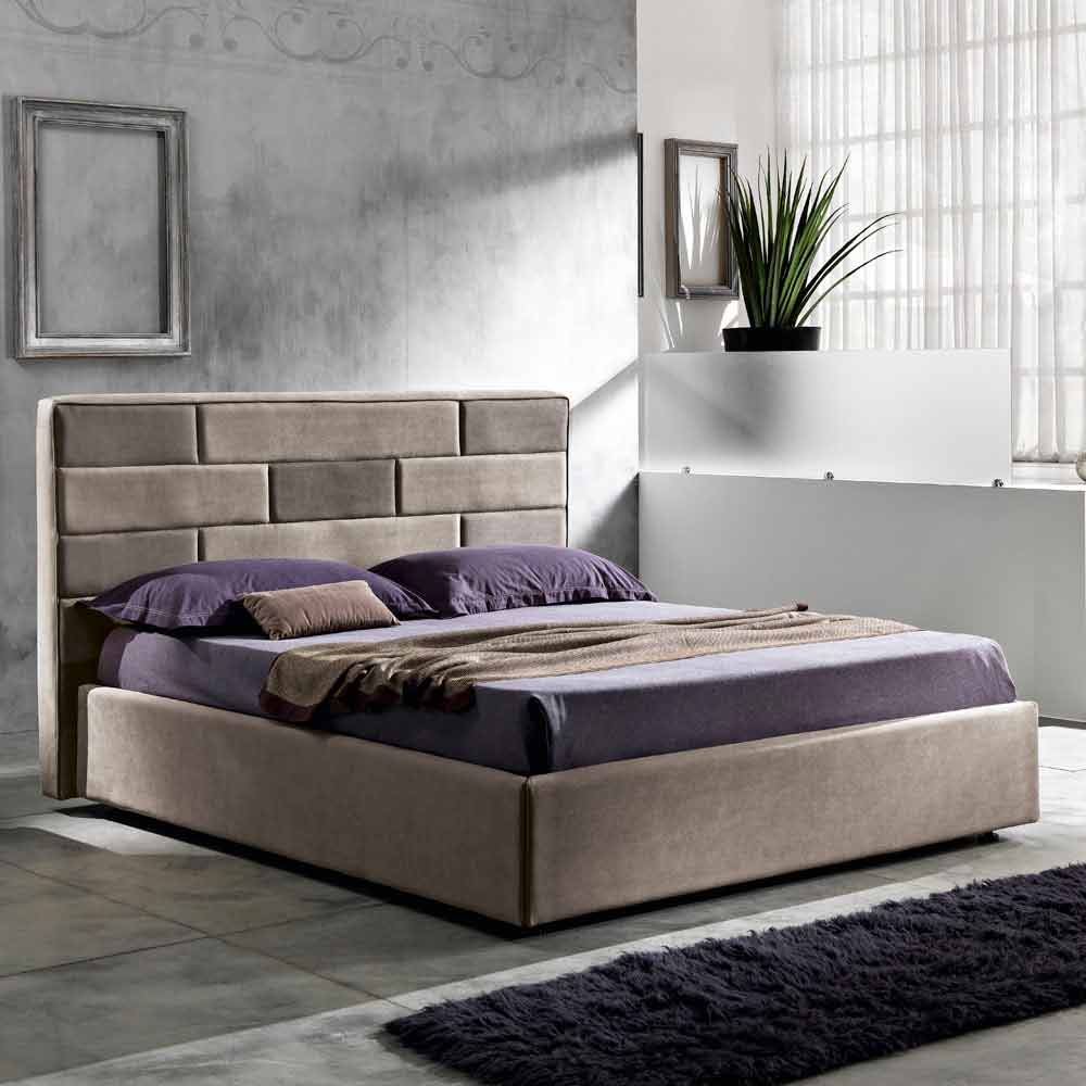 Letto Contenitore 160x190.Modern Double Bed With Storage Box 160x190 200 Cm Gin