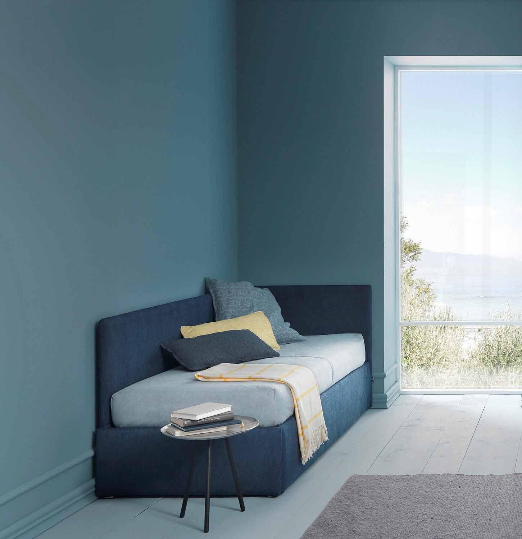 Testiera Letto Singolo Ad Angolo.Single Bed With Corner Headboard And Iron Structure Line 4 By Bolzan