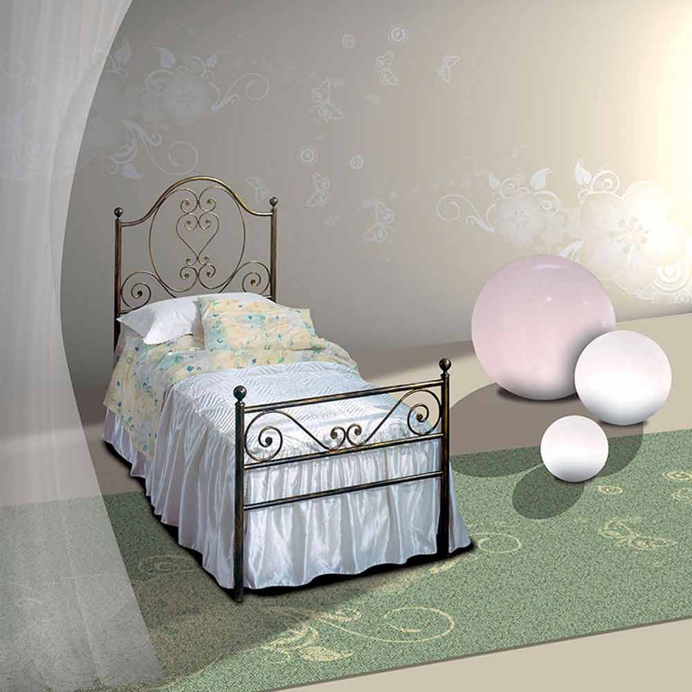 Wrought Iron Single Bed Gea Handmade In Italy