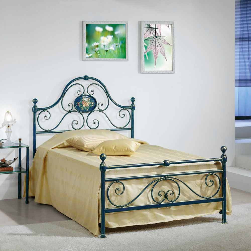 Il Letto In Piazza.Wrought Iron Small Double Bed Gloria Classic Design Handmade In