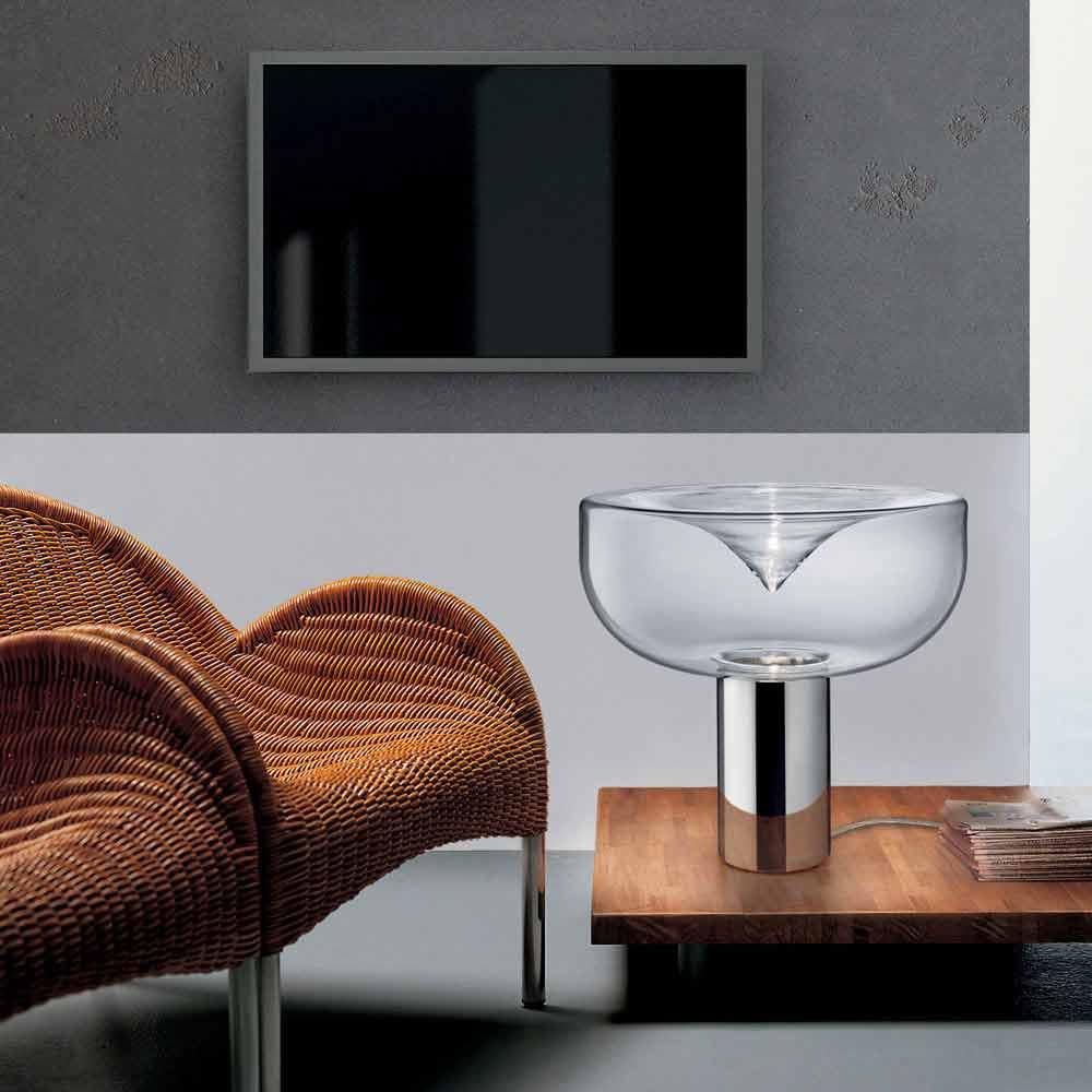 Leucos Aella Crystal Glass Led Rgb Table Lamp Modern Design