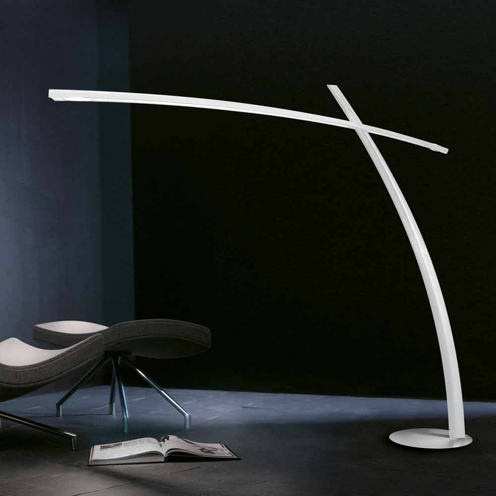 Leucos katana designer floor lamp with led made of carbon fiber - Lampada led design ...