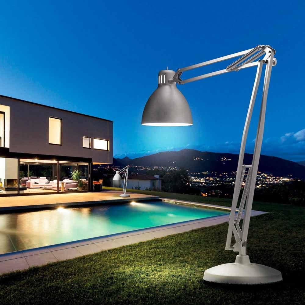 Leucos The Great Jj Outdoor Designer Floor Lamp Made Of