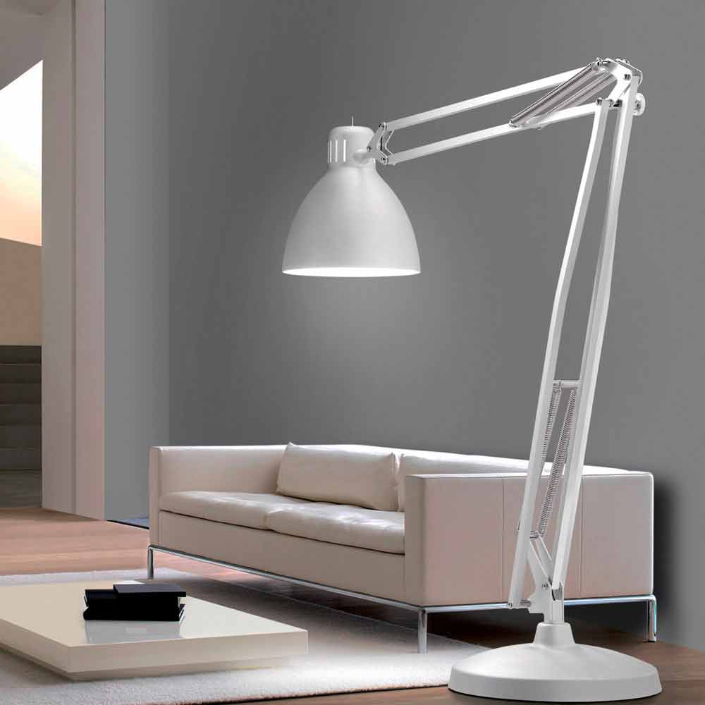 Leucos The Great Jj Big Dimensions Floor Lamp Made Of Aluminum