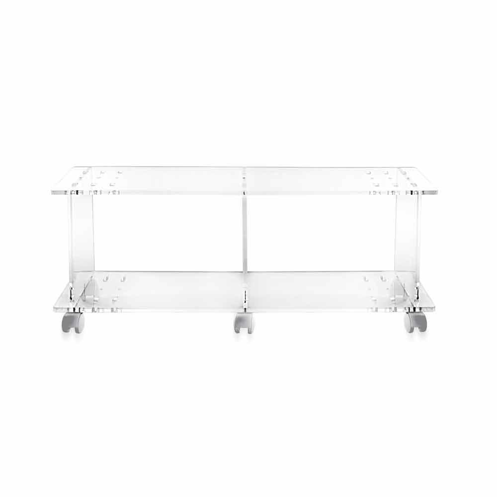 Tv Meubel Teak Modern.Modern Design Tv Stand Made Of Transparent Plexiglass Mago