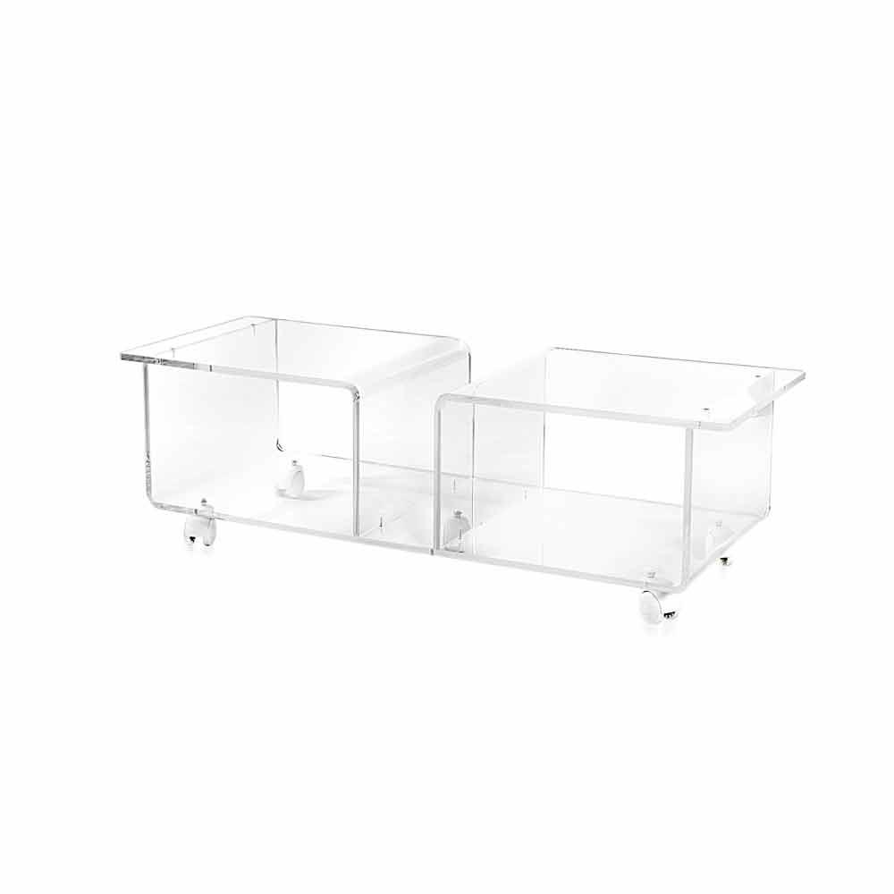 Porta Tv Plexiglass.Modern Design Tv Stand Made Of Transparent Plexiglass Mago Double