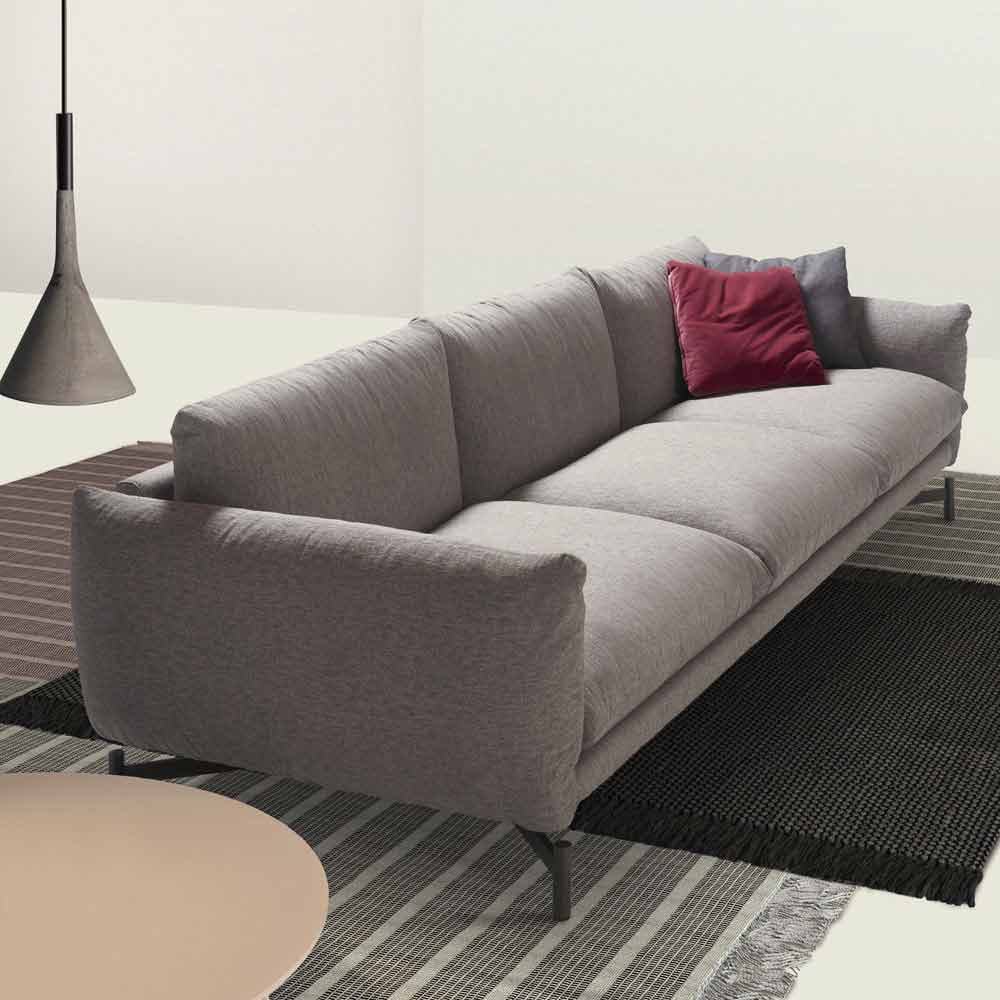 My home kom modern design sofa in fabric l265cm made in italy