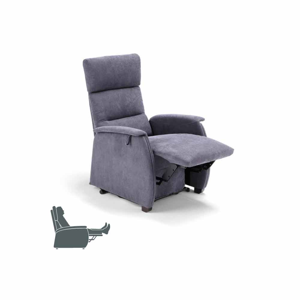 ... Kiri Reclining Armchair With 2 Motors Of Design, Made In Italy ...