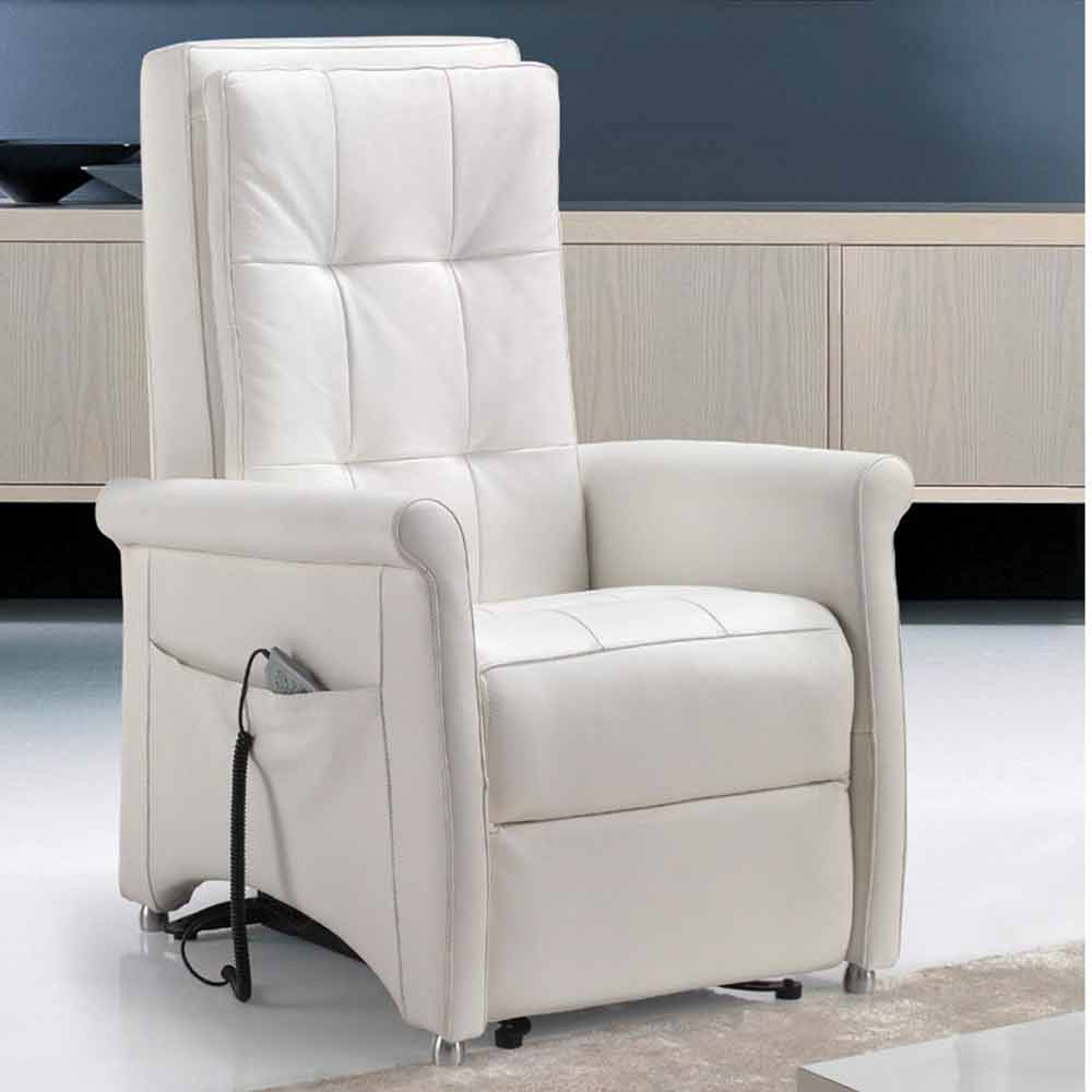 Dual Motor Riser Recliner Chair Via Roma Made In Italy