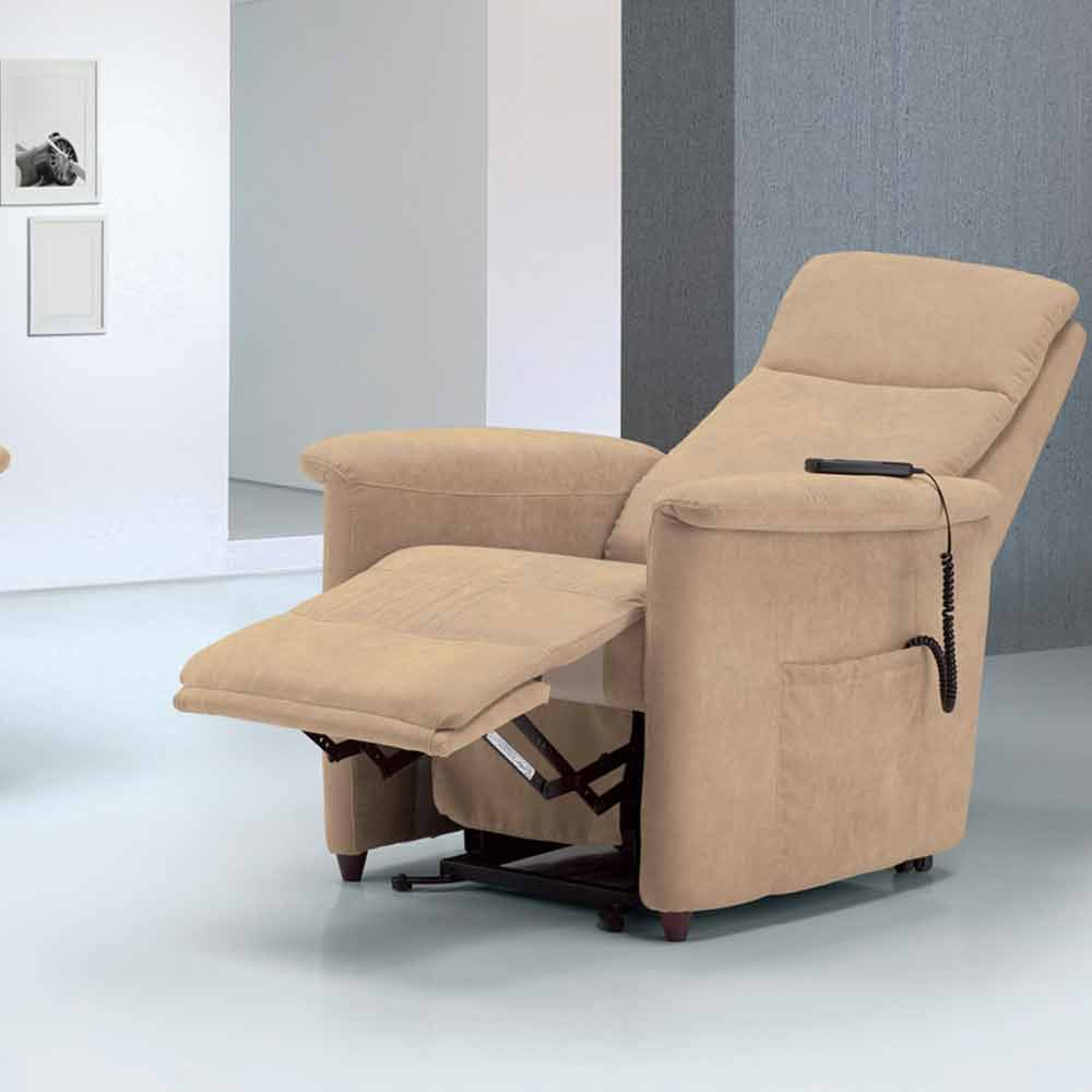 Dual Motor Riser Recliner Chair Via Firenze Made In Italy