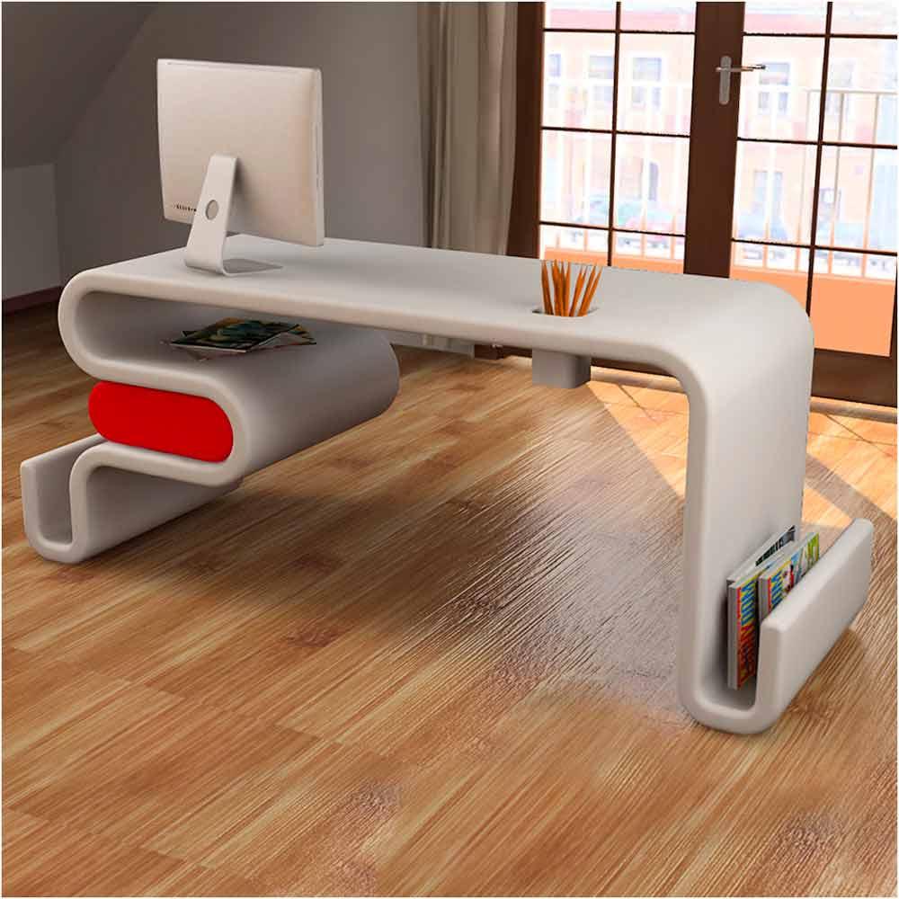 Modern Design Office Desk Flex Entirely Made In Italy