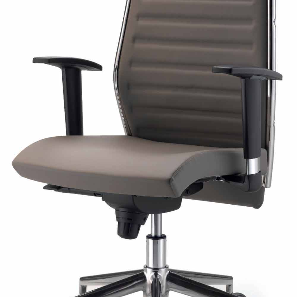 Full grain leather executive office chair ester modern design for Modern executive office chairs