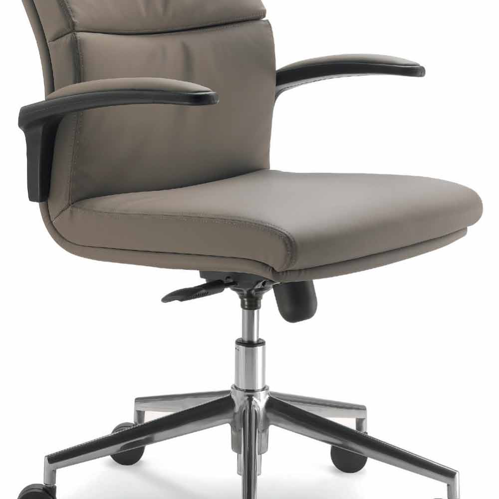 Full grain leather executive office chair edda modern design for Modern leather office chairs
