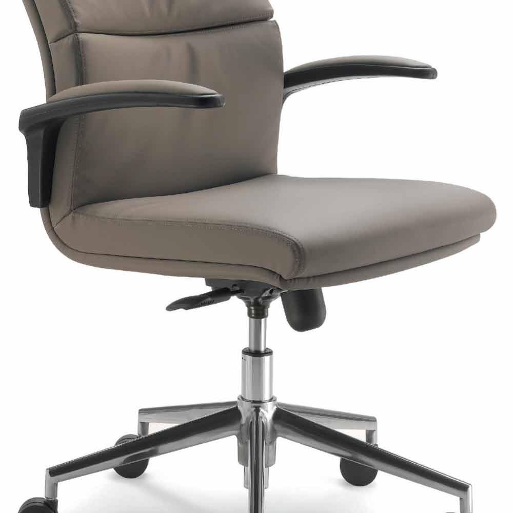 Full grain leather executive office chair edda modern design for Modern executive office chairs