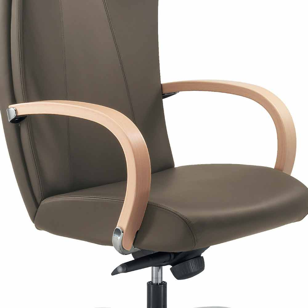 Full Grain Leather Executive Office Chair Ambra Modern Design